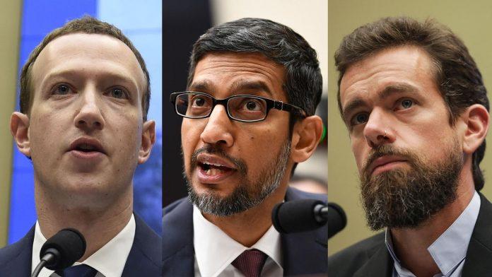 جوجل وفيس بوك وتويتر